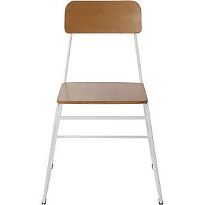 White and Oak Veneer Utility Chair