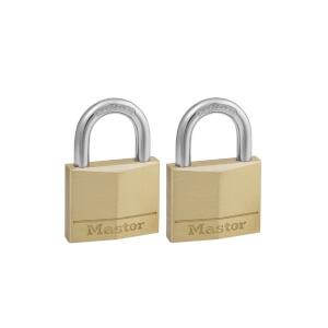 Master Lock Brass padlock - 40mm - 2 Pack