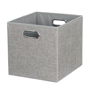 Cube Fabric Insert - Woven Silver