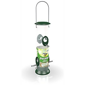 Peckish All Weather Large Seed Feeder - Green