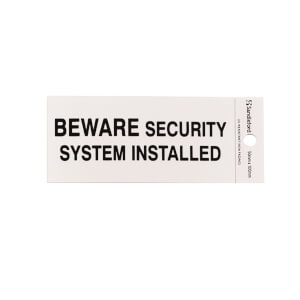Self Adhesive Beware Security System Installed Sign - 100 x 50mm