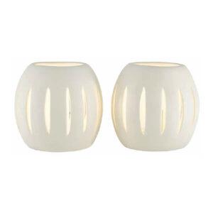 Jack Ceramic Cluster 2 Light Table Lamp - White