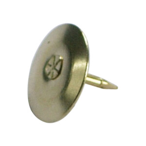 Brass Plated Drawing Pins - 100 Pack