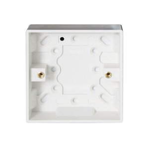 Arlec 1 Gang Pattress Box 25mm White
