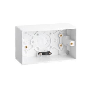 Arlec 2 Gang Pattress Box 47mm White