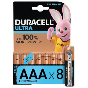 Duracell Ultra AAA Batteries - 8 Pack