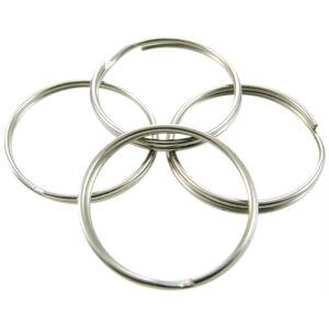 Split Key Rings - 2.5cm, 4 pack