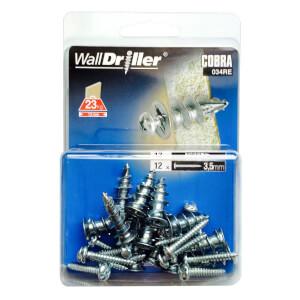 Cobra Wall Driller - Hollow Wall Fixings x 12 - 034RE