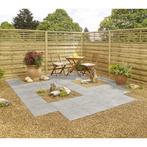 Stylish Stone Hereford Paving Riven 450 x 450mm - Grey (Full Pack)