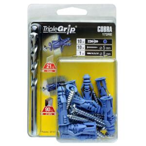 Cobra Triple Grip - Multi Purpose Wall Fixings x 10 - 172RE