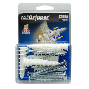 Cobra Wall Gripper - Hollow Wall Fixings x 8 - 750RE