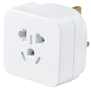 Masterplug Visitor to UK Travel Adaptor White