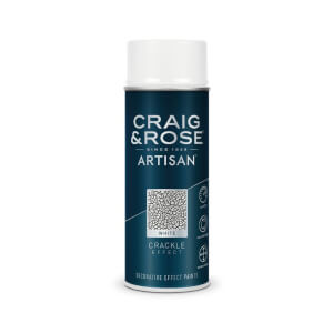 Craig & Rose Artisan Crackle Effect Spray Paint - White - 400ml