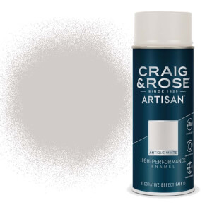 Craig & Rose Artisan Enamel Gloss Spray Paint - Antique White - 400ml