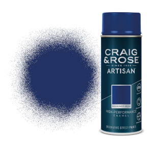 Craig & Rose Artisan Enamel Gloss Spray Paint - Passionate Blue - 400ml