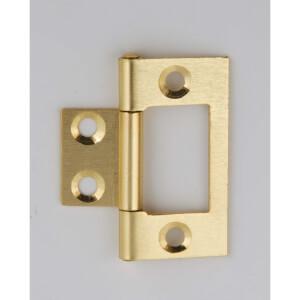 Hafele Flush Hinge - Electro Brass - 38 x 17mm - 2 Pack