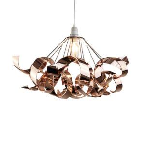 Sputnik Ribbon Easy Fit Pendant Light Shade - Chrome & Copper