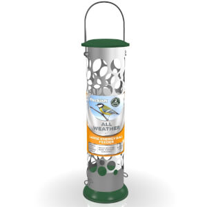 Peckish All Weather Metal Energy Suet Fat Ball Bird Feeder - Large