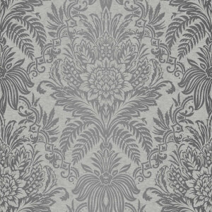 Fresco Signature Damask French Grey Wallpaper