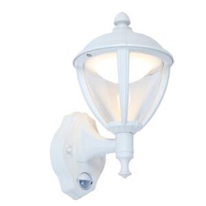 Lutec Unite 9W LED PIR Wall Light - White