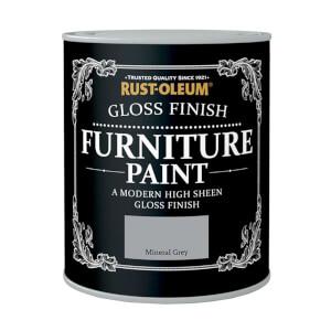 Rust-Oleum Gloss Furniture Paint - Mineral Grey - 125ml