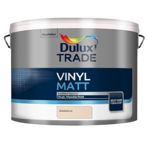 Dulux Trade Vinyl Magnolia - Matt Emulsion Paint - 10L