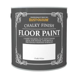 Rust-Oleum Chalky Floor Paint Chalk White 2.5L