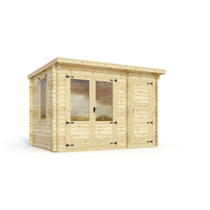 Mercia 3.5m x 2.4m Trent 19mm Log Cabin