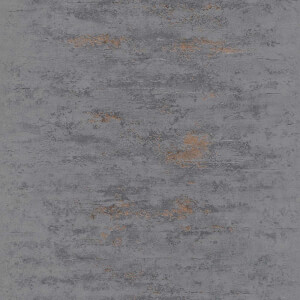 Grandeco Metallic Concrete Black Wallpaper