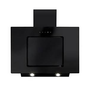 CDA EVA70BL Angled Chimney Cooker Hood - 70cm - Black