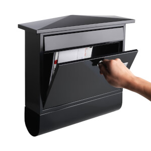 Sandleford Lewis Paper Holder Mailbox - Black