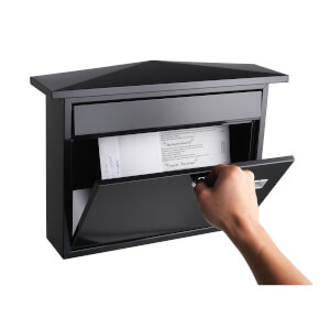 Sandleford Lewis Wall Mount Mailbox - Black