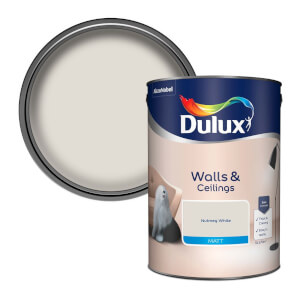 Dulux Natural Hints Nutmeg White - Matt Emulsion Paint - 5L