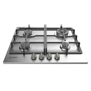 Indesit THP641WIXI Gas Hob - 60cm - Stainless Steel