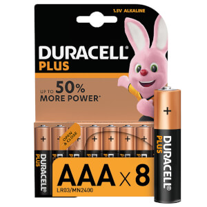 Duracell Plus AAA Batteries - 8 Pack