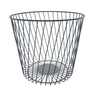 Wire Bin - Matt Black