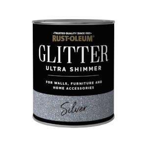 Rust-Oleum Ultra Shimmer Silver Glitter - 750ml