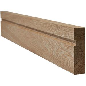 Single Groove Internal Unfinished Oak Architrave - 70 x 2200mm