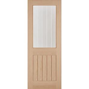 Belize Internal Glazed Unfinished Oak 1 Lite Door - 838 x 1981mm