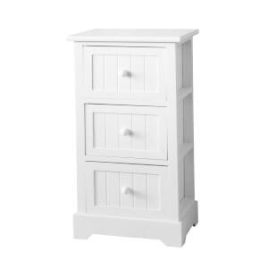 White Classic 3 Drawer Storage Unit