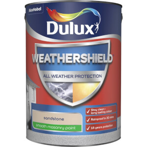 Dulux Weathershield All Weather Smooth Masonry Paint - Sandstone - 5L