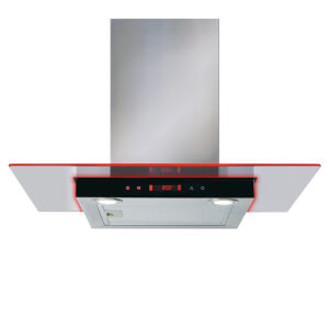 CDA EKN70SS Flat Glass Hood with Edge Lighting - 70cm