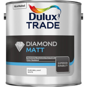 Dulux Trade Diamond Eggshell - Pure Brilliant White - 2.5L
