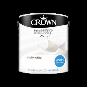 Crown Standard Matt Emulsion - Chalky White - 2.5L
