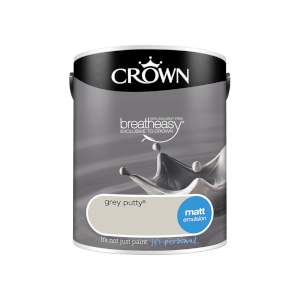 Crown Standard Matt Emulsion - Grey Putty - 5L