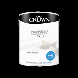 Crown Standard Matt Emulsion - Clay White - 5L