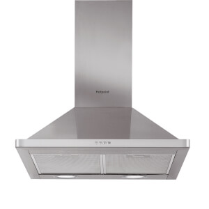 Hotpoint PHPN6.5 FLMX Chimney Cooker Hood - Stainless Steel
