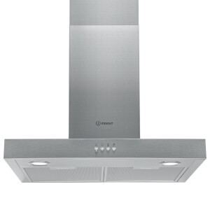 Indesit IHF 6.5 LM X 60cm Chimney Hood - Stainless Steel