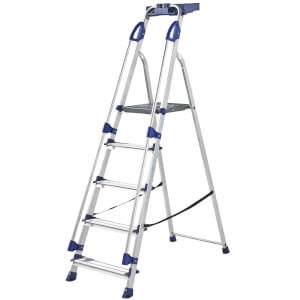 Werner Workstation Step Ladder - 5 Tread