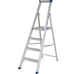 Werner MasterTrade Platform Step Ladder - 4 Tread